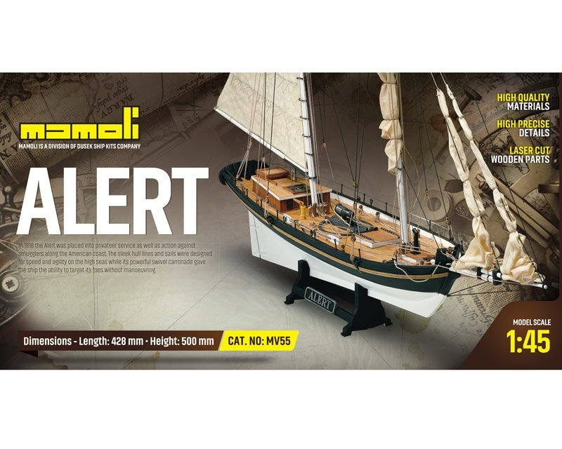 Alert Segelschiff Bausatz 1:45 Mamoli