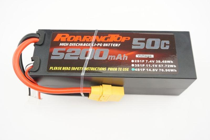 LiPo Akku Hardcase 14,8V 4S1P 5200mAh 50C mit XT90 Stecker