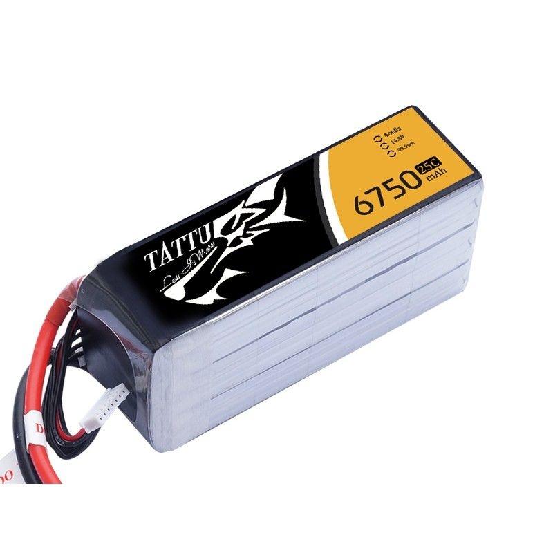 TATTU 6750mAh 14.8V 25C 4S1P Lipo Arrma X-Maxx