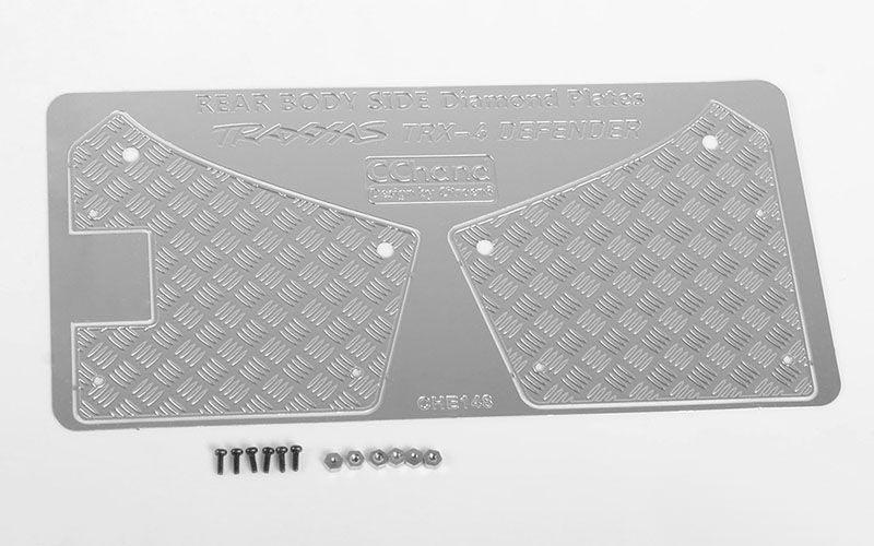 Diamond Plate Rear Fender Quarters Cover Kotflügel hi. TRX-4