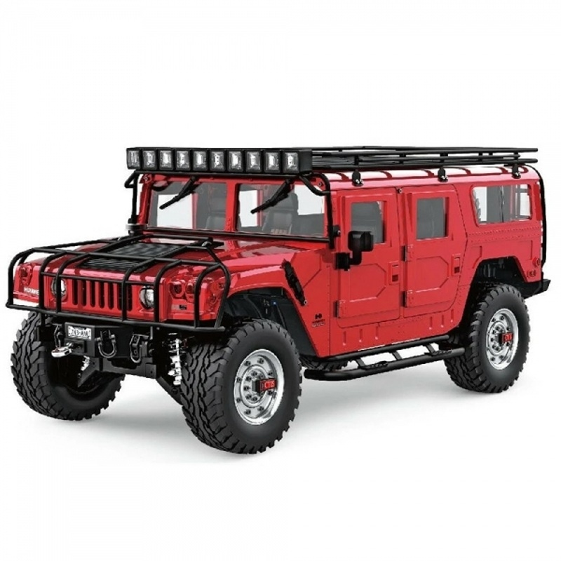 Hummer H1 aus Metall 4WD Offroad 1:10 SUV 2,4GHz RTR, rot