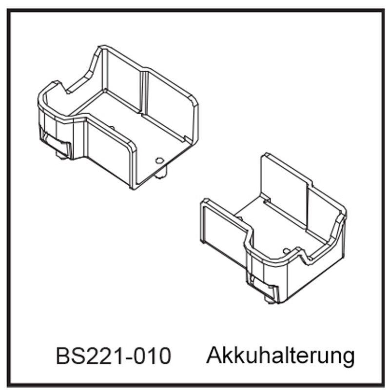 Akkuhalterung - BEAST BX / TX