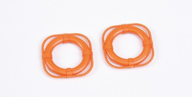 Rettungsringe 30mm in orange (2)