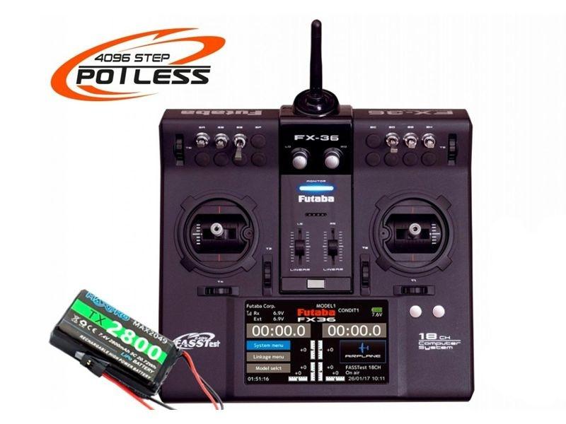 FX36 Potless 18-Kanal Fernsteuerung + R7008SB Emfpänger