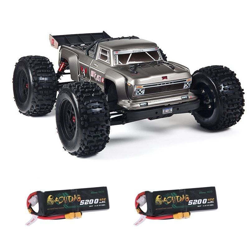 Outcast 6S BLX 4WD 1/8 Monster Truck silber RTR + 2x3S LiPo