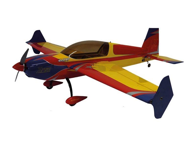 EXTRA 300 V2 48 Zoll Kunstflugzeug 1219mm ARF rot/blau/gelb