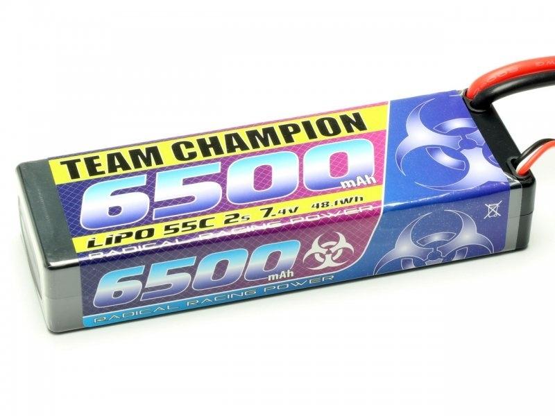 LiPo Akku Team Champion 2S 6500mAh 55c 7,4V, T-Stecker