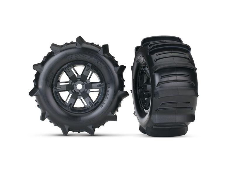 Paddle Reifen auf Felgen schwarz verklebt für X-MAXX