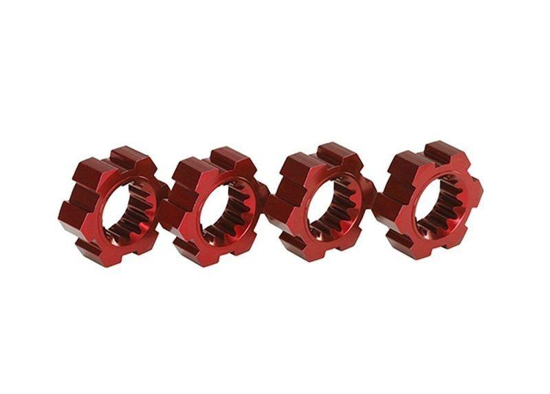 Radmitnehmer, Sechskant, Alu (rot-eloxiert) X-MAXX (4 Stück)