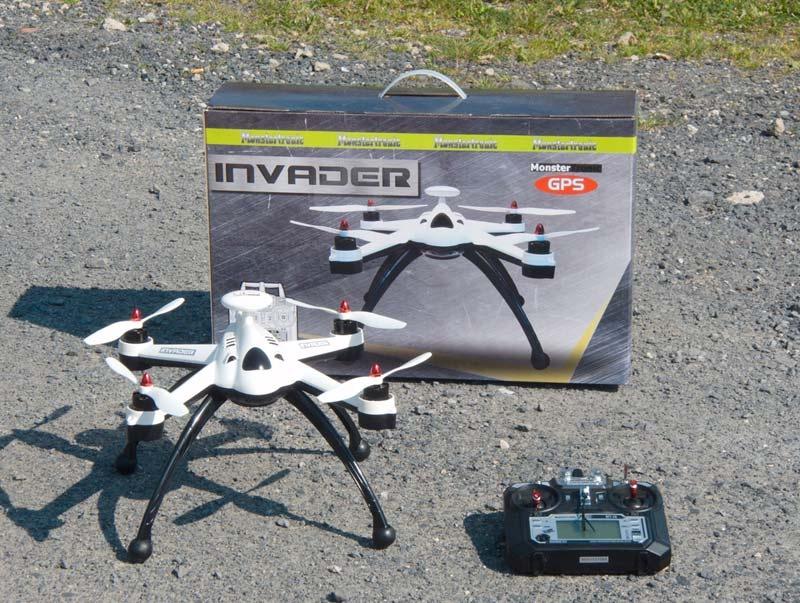 Invader 2,4GHz RTF Quadcopter mit Telemetrie, GPS, GoHome