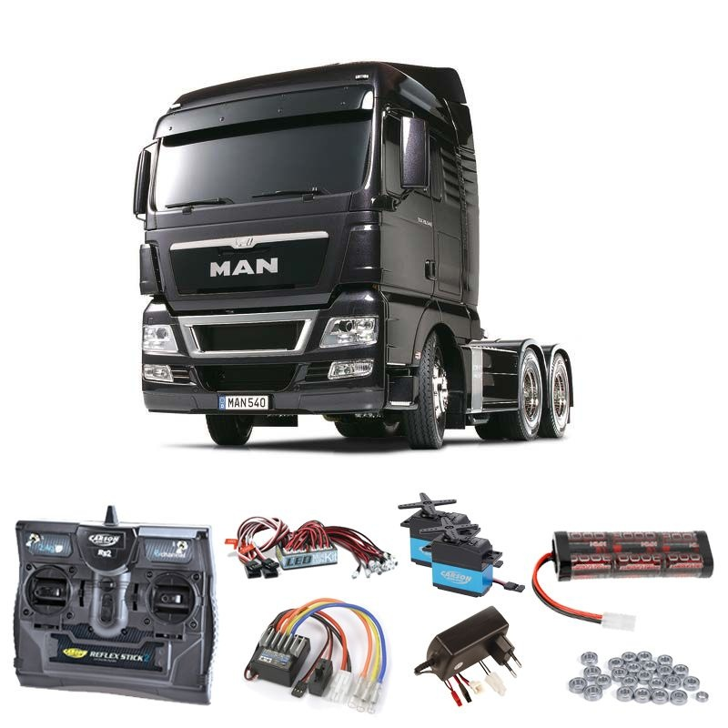 MAN TGX 26.540 Gun Metal Edition komplett + LED, Kugellager