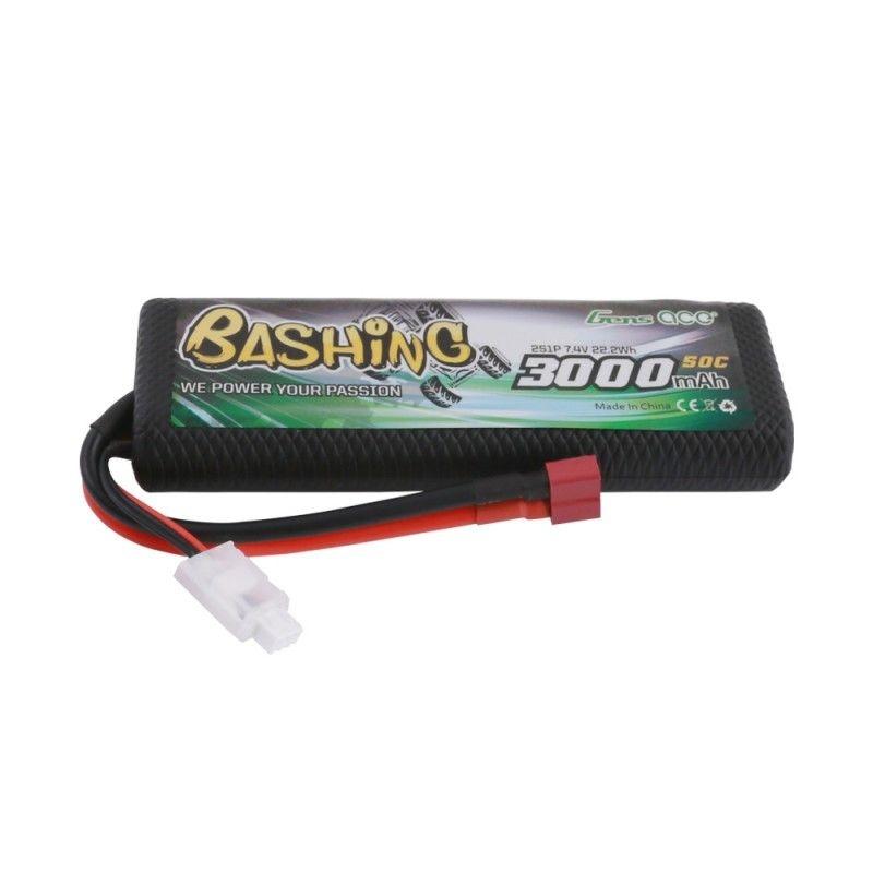 Gens Ace LiPo Akku 7,4V 3000mAh 2S1P 50C/150A mit T-Plug