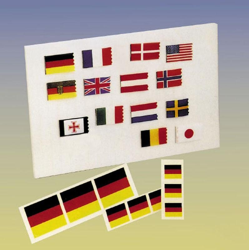 Flagge Schweden (2 Stück) auf Stoff gedruckt