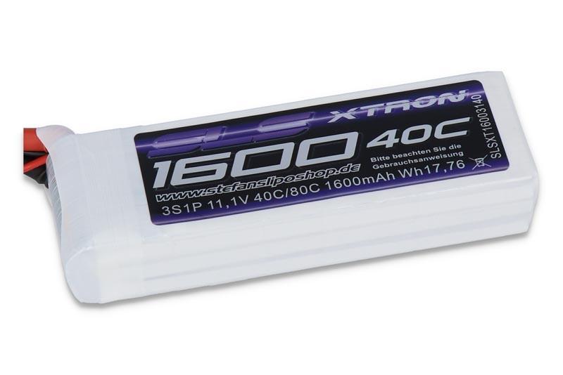 XTRON 1600mAh 3S1P 11,1V 40C/80C