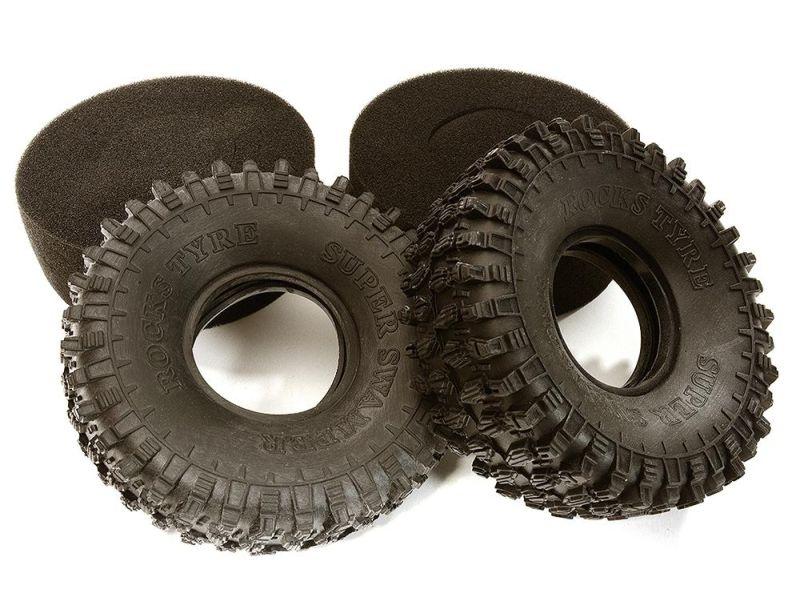 Crawler Reifen 1.9 mit Einlage für 1/10 Crawler und TRX-4