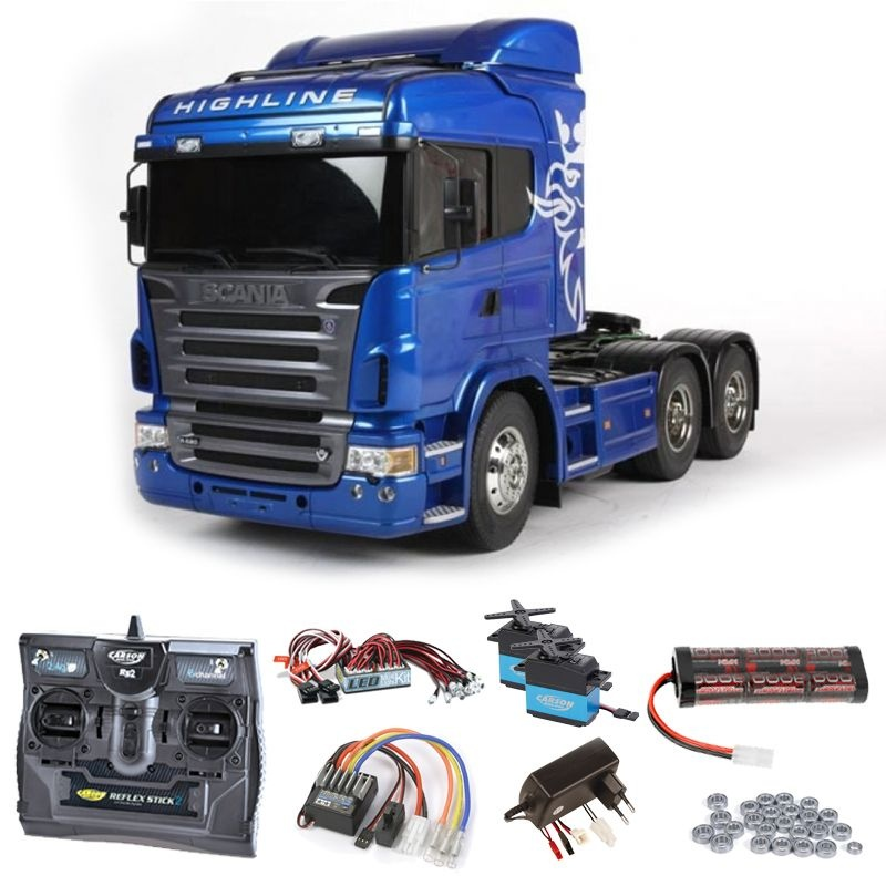 Scania R620 6x4 Highline Blue Edition Komplett + LED, Lager