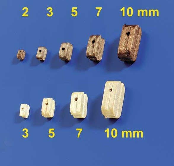 Blöcke Nussbaum 5mm (10 Stück)
