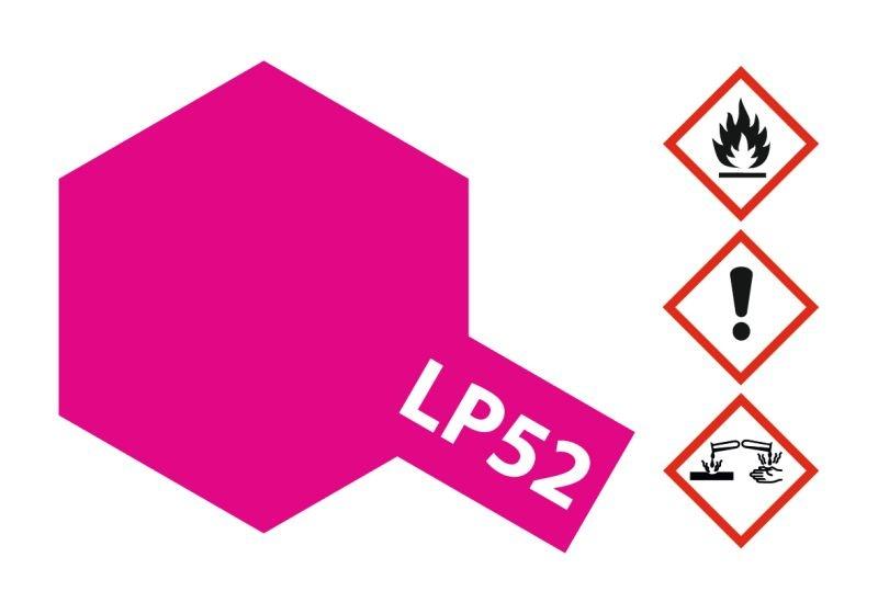 LP-52 Klar-Rot glänzend Kunstharzfarbe 10ml