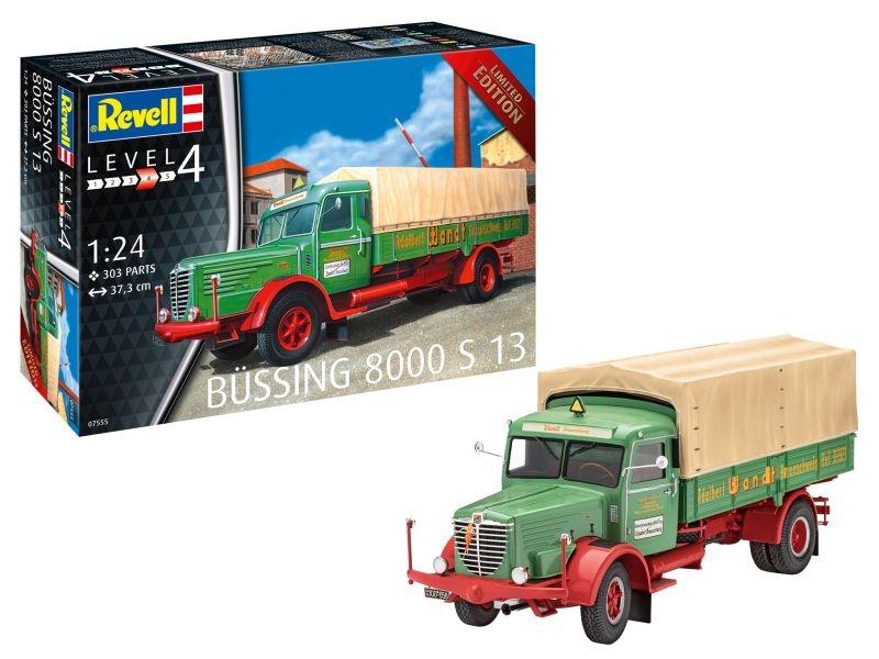 Büssing 8000 S13 Lastwagen 1:24 Plastik Bausatz