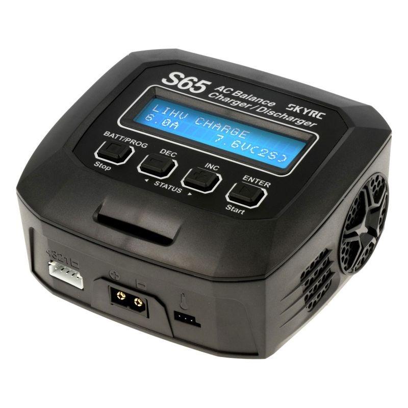 S65 AC Ladegerät LiPo 2-4S 6A 65W, Entladen 2A NiMH