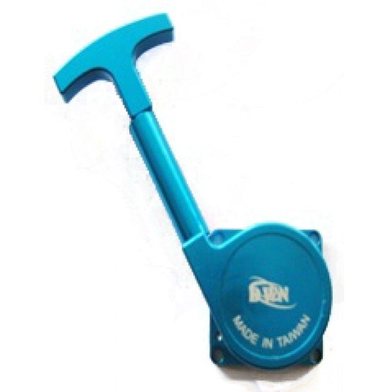 Seilzugstarter blau mit Alugehäuse für Nitro-Motoren
