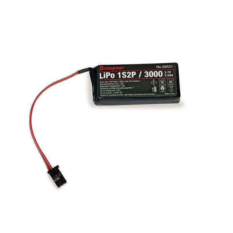 Senderakku LiPo 1s2p 3000 3,7V für MZ-12