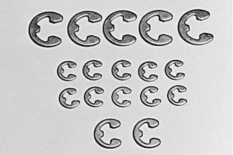 E-Ring Set 2/3/4mm E-clips