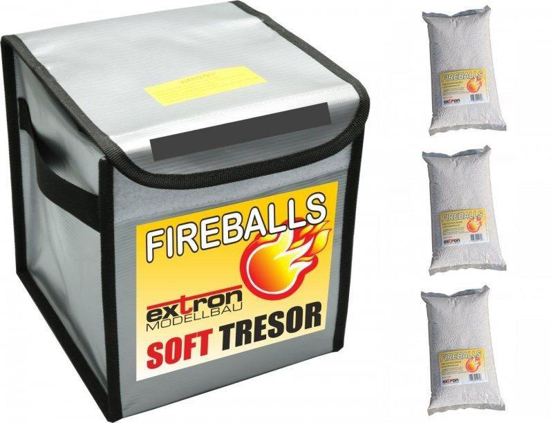 Fireballs Soft Tresor inkl. 3x 1 Liter Feuerlöschgranulat