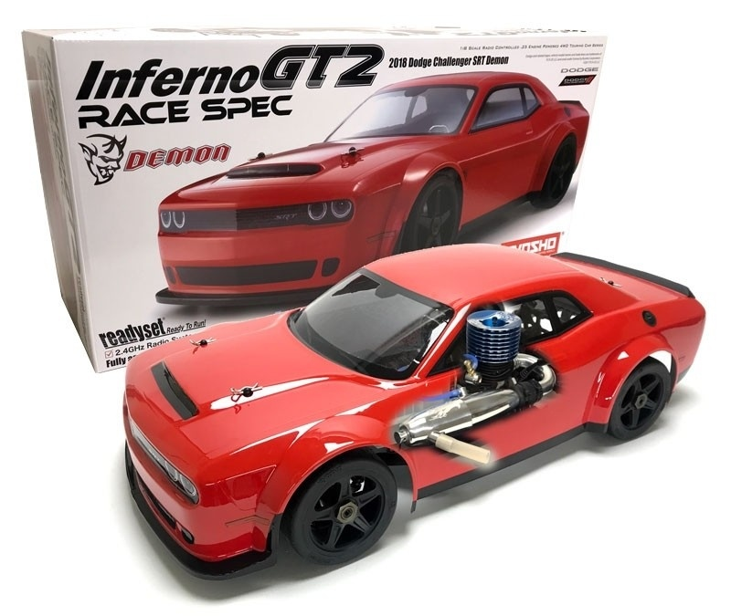 Inferno GT2 1:8 Race Dodge Challenger SRT Demon Nitro RTR