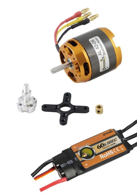 D-Power Brushless SET AL42-06 & 60A Comet Regler