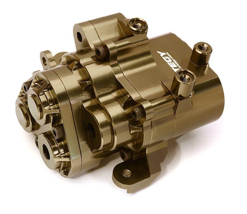 CNC Alu Center Getriebegehäuse grau für Traxxas TRX-4