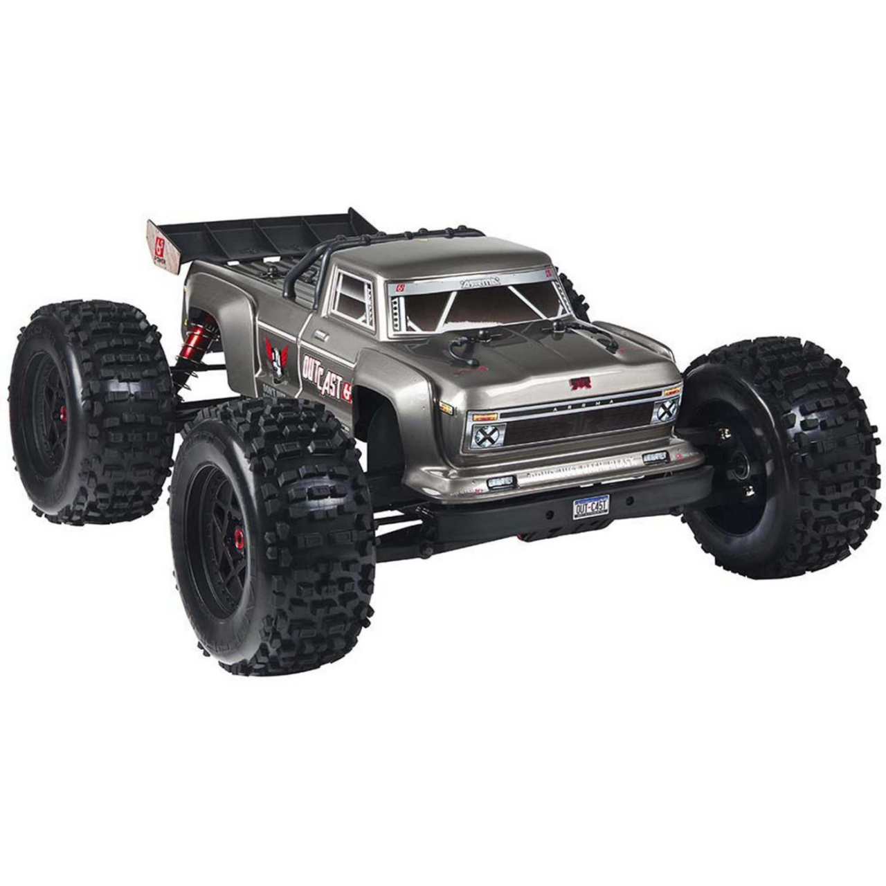 OUTCAST 6S BLX 4WD Brushless Stunt Truck RTR, silber