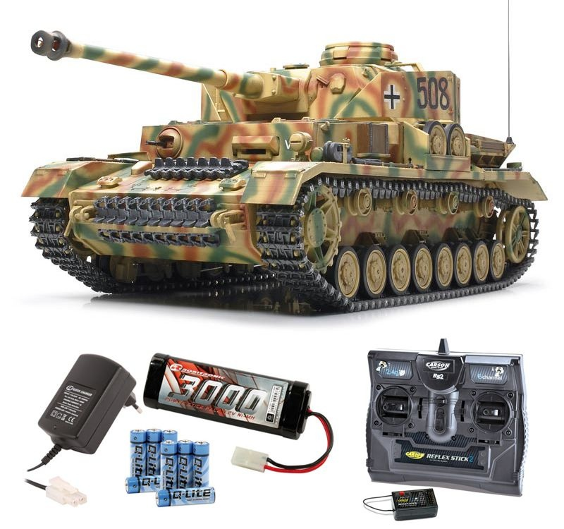 Panzer IV RC Full Option 1/16 2,4GHz Komplettset