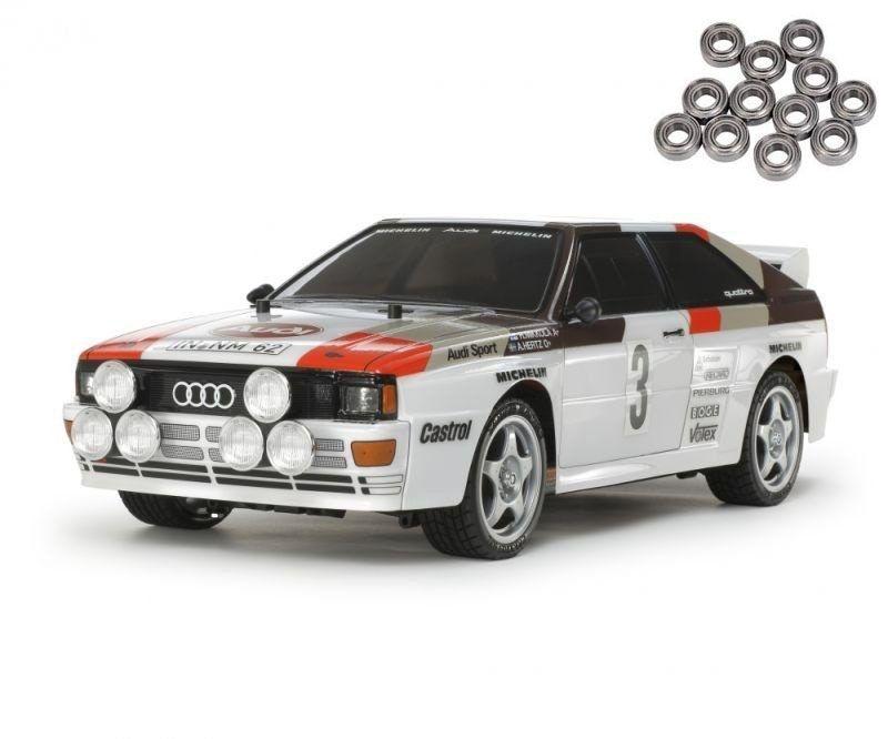 Audi Quattro A2 1/10 Onroad 4WD TT-02 Bausatz mit Kugellager