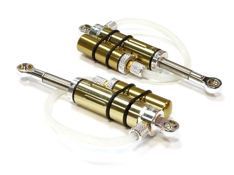 Alu Öldruck Piggyback Stoßdämpfer 90mm (2) für SCX-10