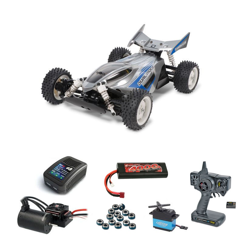 Dual Ridge 1:10 4WD TT-02B Brushless-Edition Komplettset