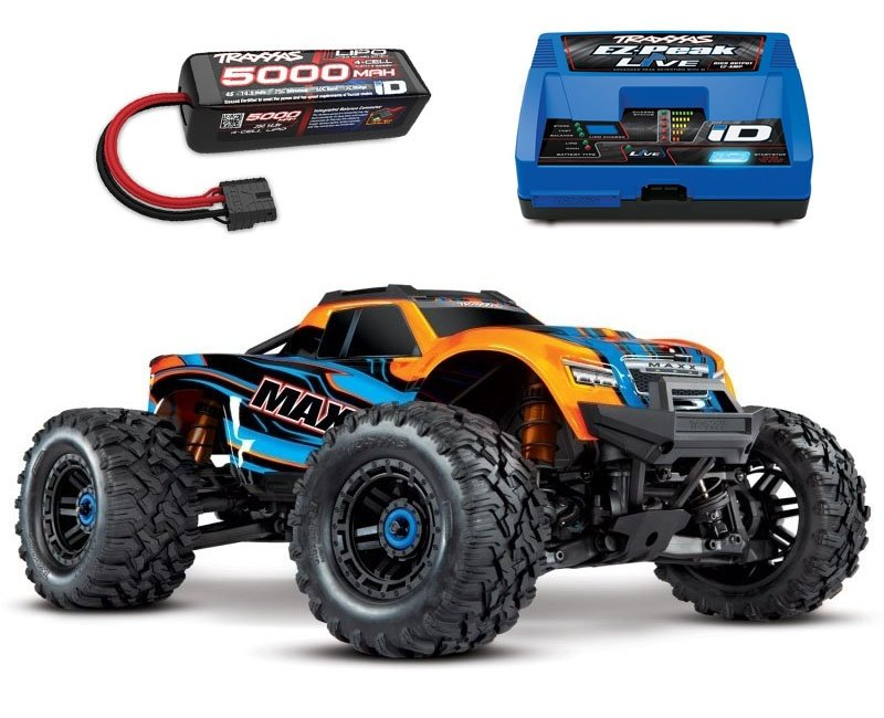 Maxx 4S 1:10 4WD Monster Truck Brushless TQi 90+ km/h orange