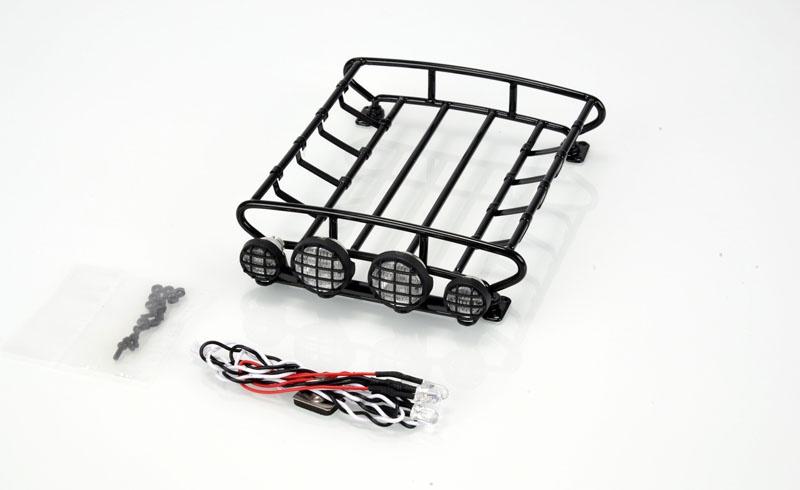 Dachgepäckträger mit 4-fach LED Scheinwerfer Metall