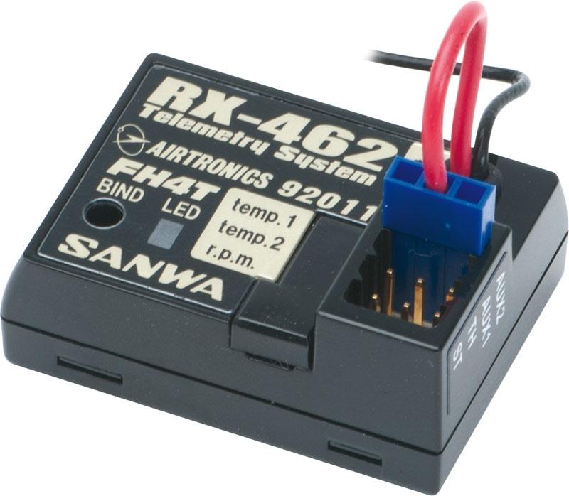 RX-462 Empfänger 2.4GHz FH-4T, SSR-Technik, 4 Kanal