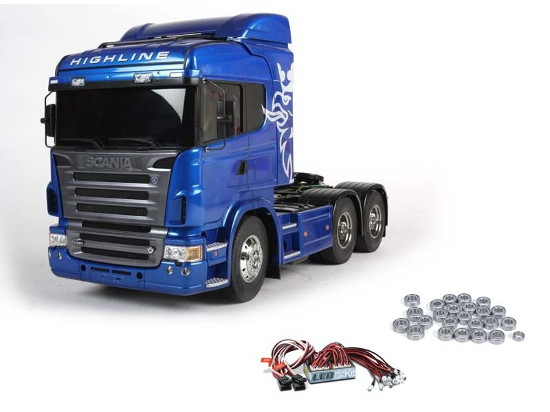 Scania R620 6x4 Highline Blue Edition + LED und Kugellager