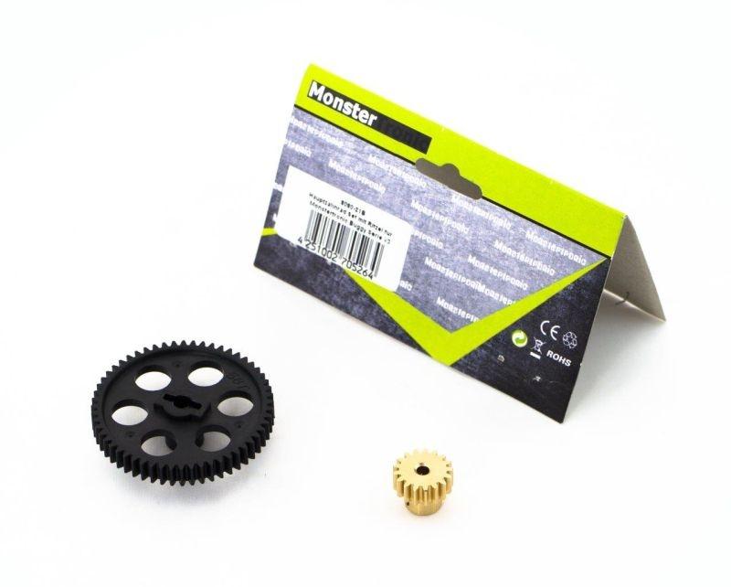 Hauptzahnrad Set mit Ritzel für Monstertronic Buggy Serie V3