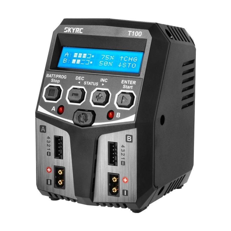 T100 100V-230V AC Duo-Ladegerät LiPo 2-4S 5A 2x50W