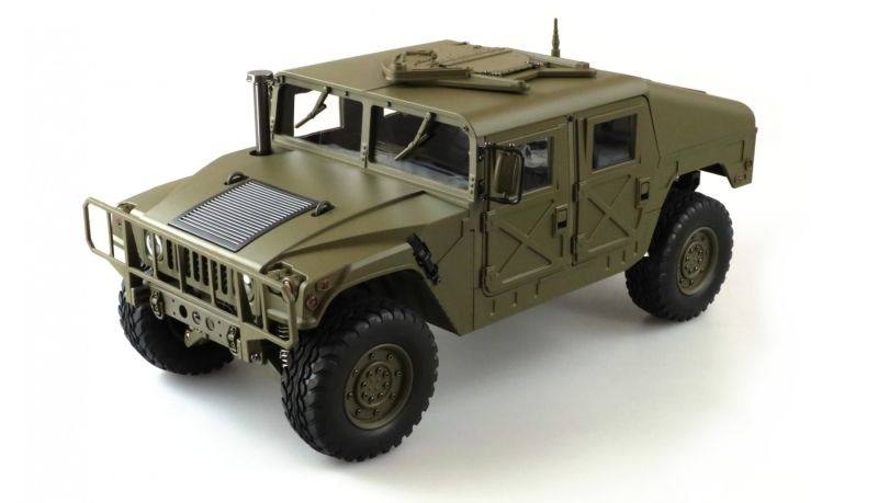 4x4 U.S. Militär Truck 1:10 Army RTR Teilmetall 5KG 2Gang