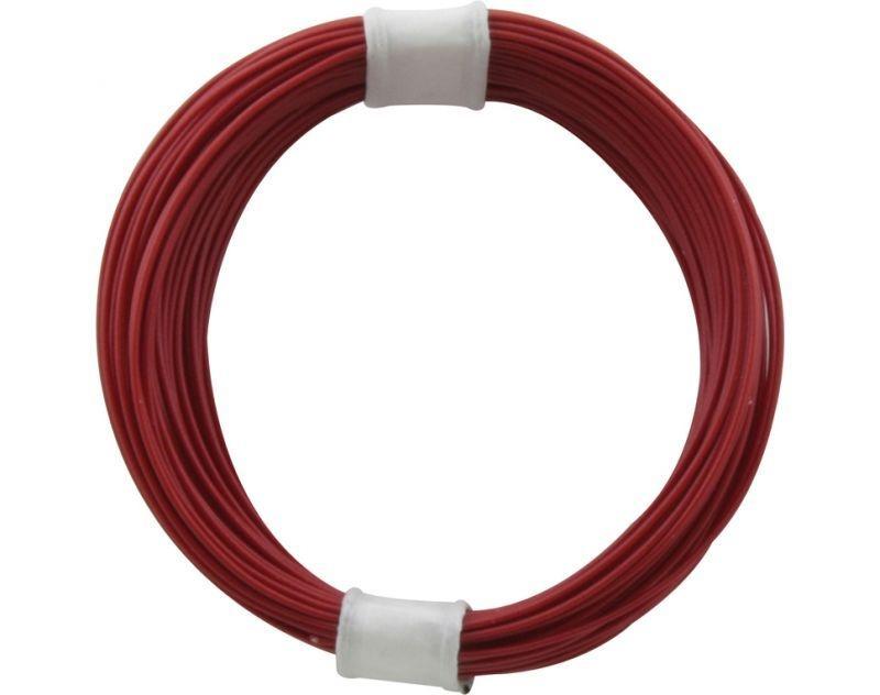 Kupferschalt Litze rot - extra dünn 10m