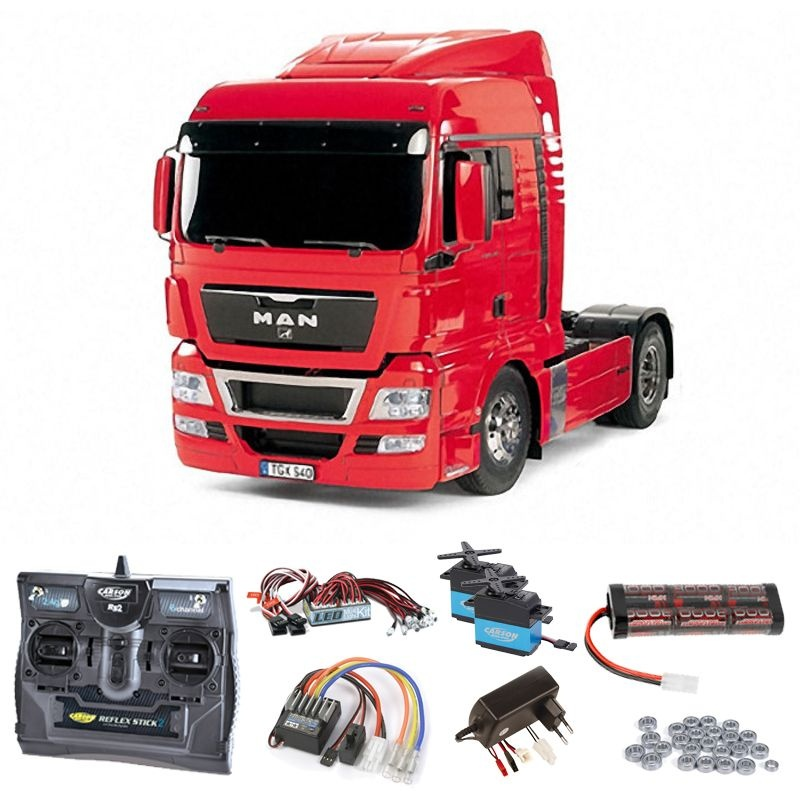 MAN TGX 18.540 4x2 XLX - Red Edition Komplettset + LED,Lager