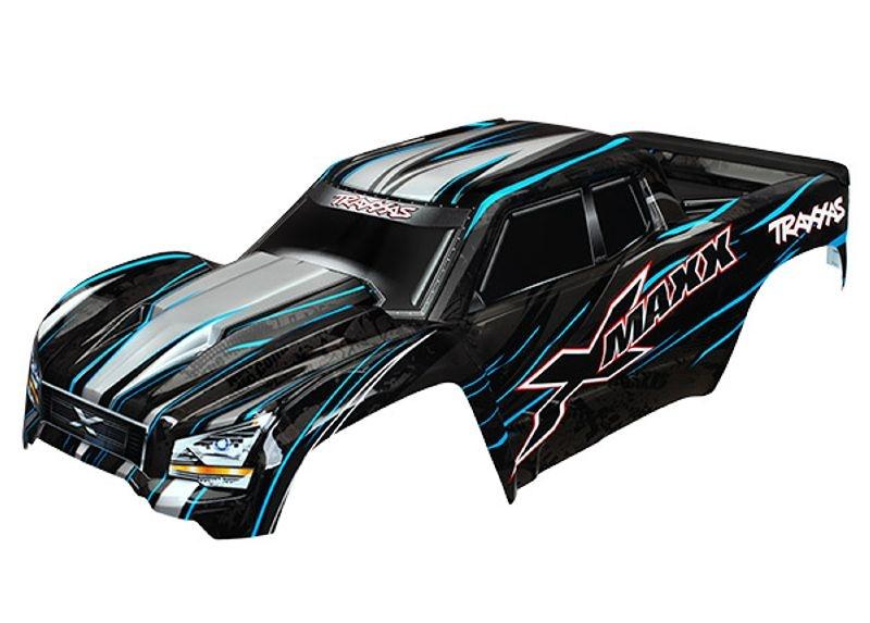 Karosserie fertig lackiert in blau für X-Maxx