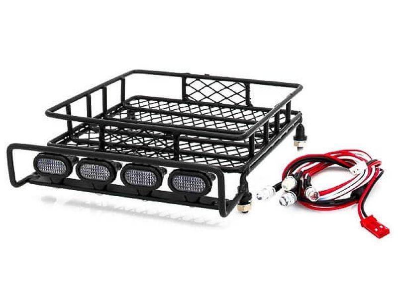Dachgepäckträger Set Metall mit LED Scheinwerfern 140x115x40