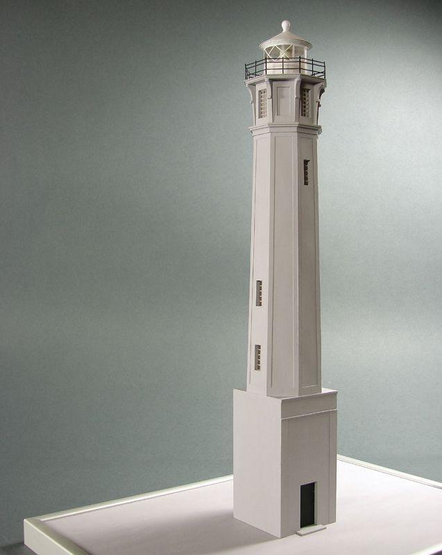 Leuchtturm Alcatraz Laser Kartonbausatz