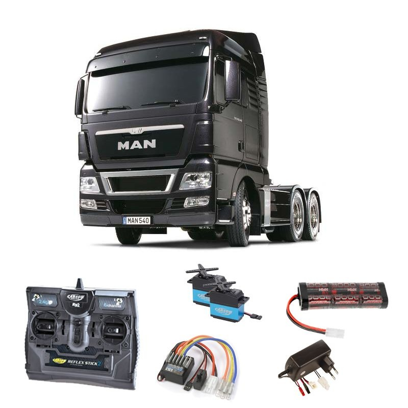 Truck MAN TGX 26.540 Gun Metal Edition 2,4GHz Komplett-Set