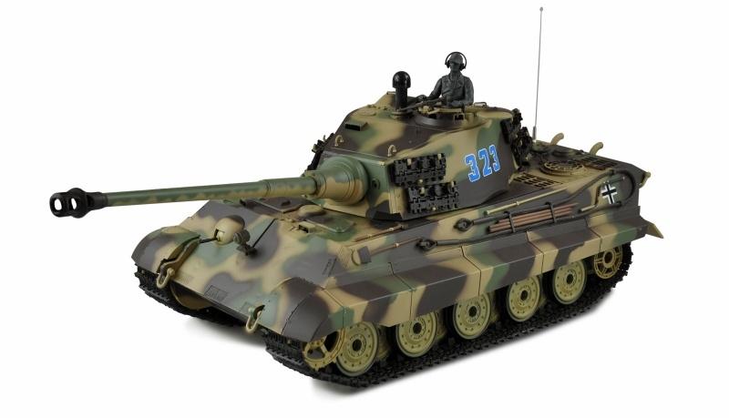Königstiger mit Henschelturm 1:16 Panzer Standard Line IR/BB